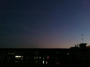 iPhoneで撮影した夕暮れ。その2