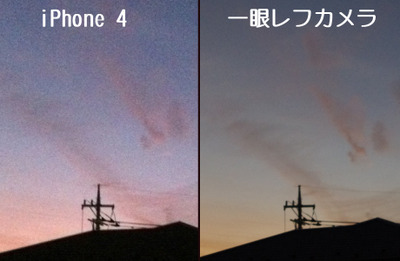 iPhoneと一眼レフデジタルカメラの比較