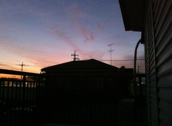 iPhoneで撮影した夕焼け