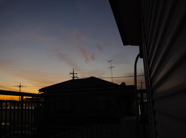 一眼レフカメラで撮影した夕焼け